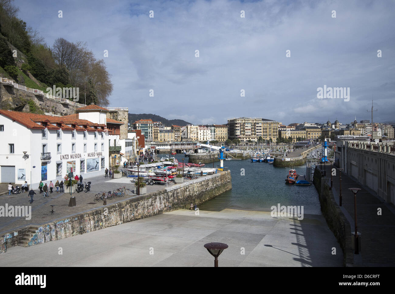 The harbour and Naval Museum in San Sebastián, Donostia, Basque Country, Spain - Stock Image