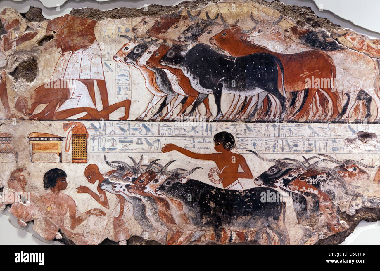 Ancient Egyptian Paintings The British Museum - Stock Image