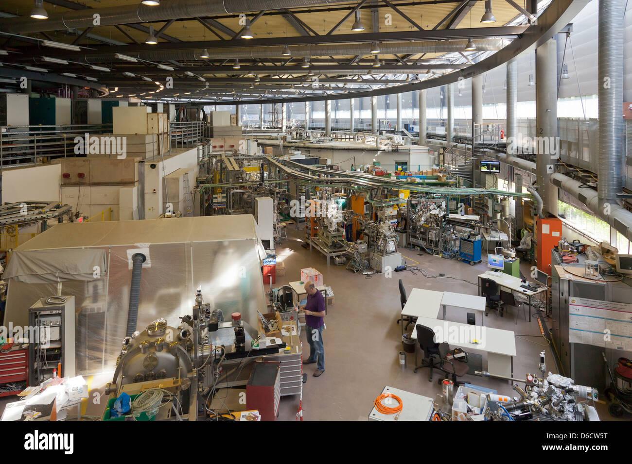 Berlin, Germany, Helmholtz-Zentrum, Berlin electron storage ring company for synchrotron BESSY II - Stock Image