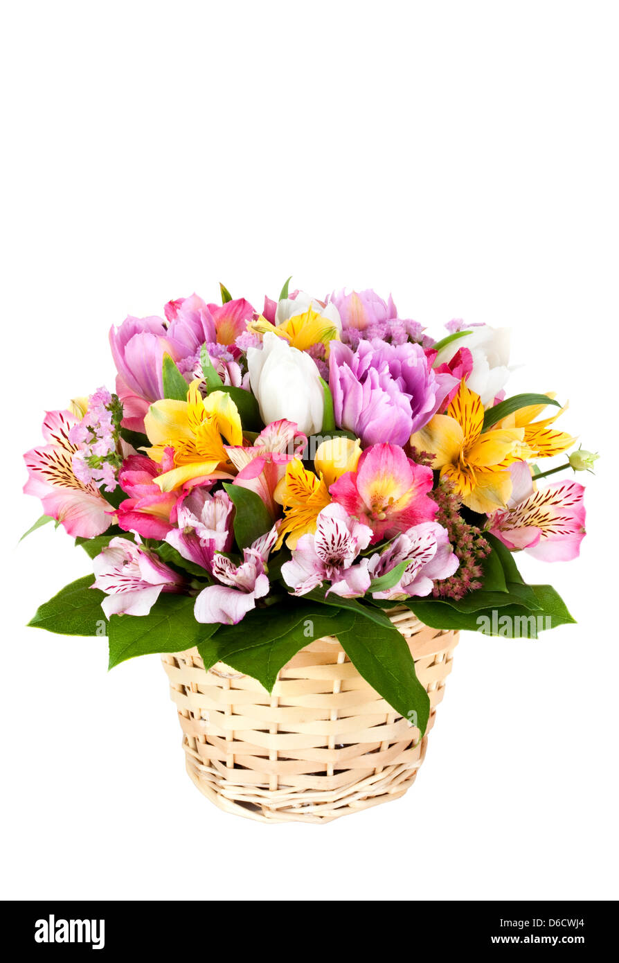 Bouquet from different bright colors - Stock Image