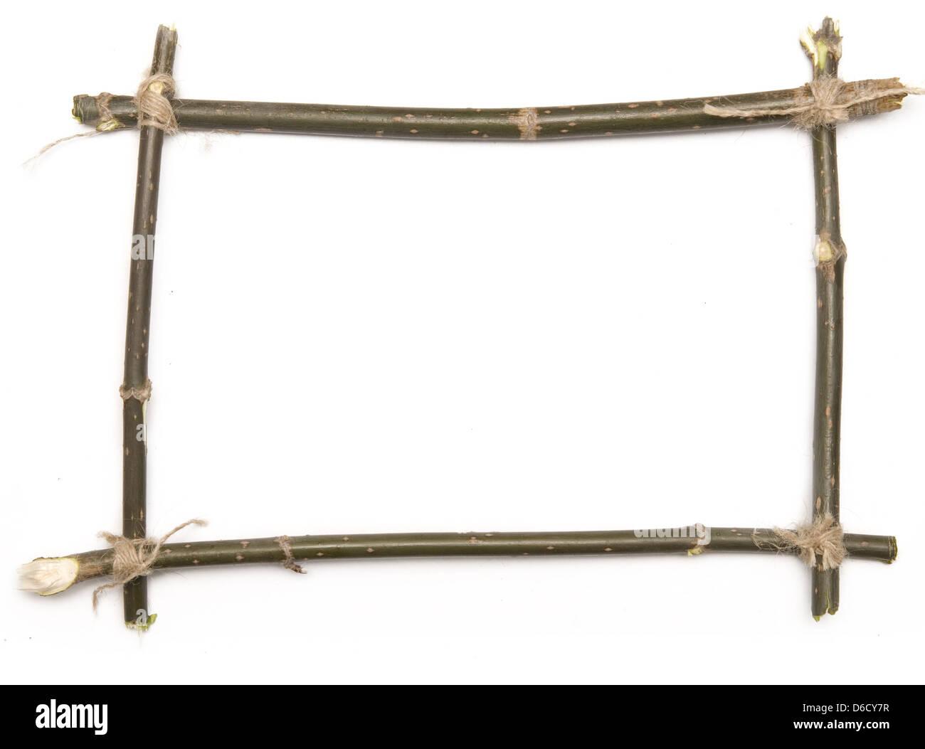 twig frame - Stock Image