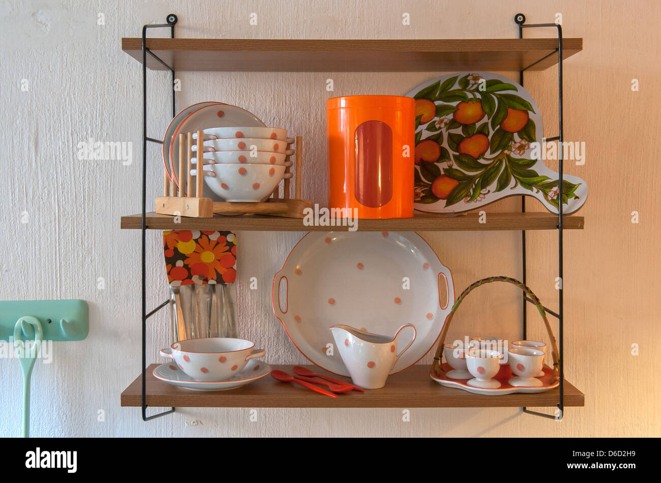 Berlin, Germany, Retro Furnishings in the style of the 50s and 60s - Stock Image