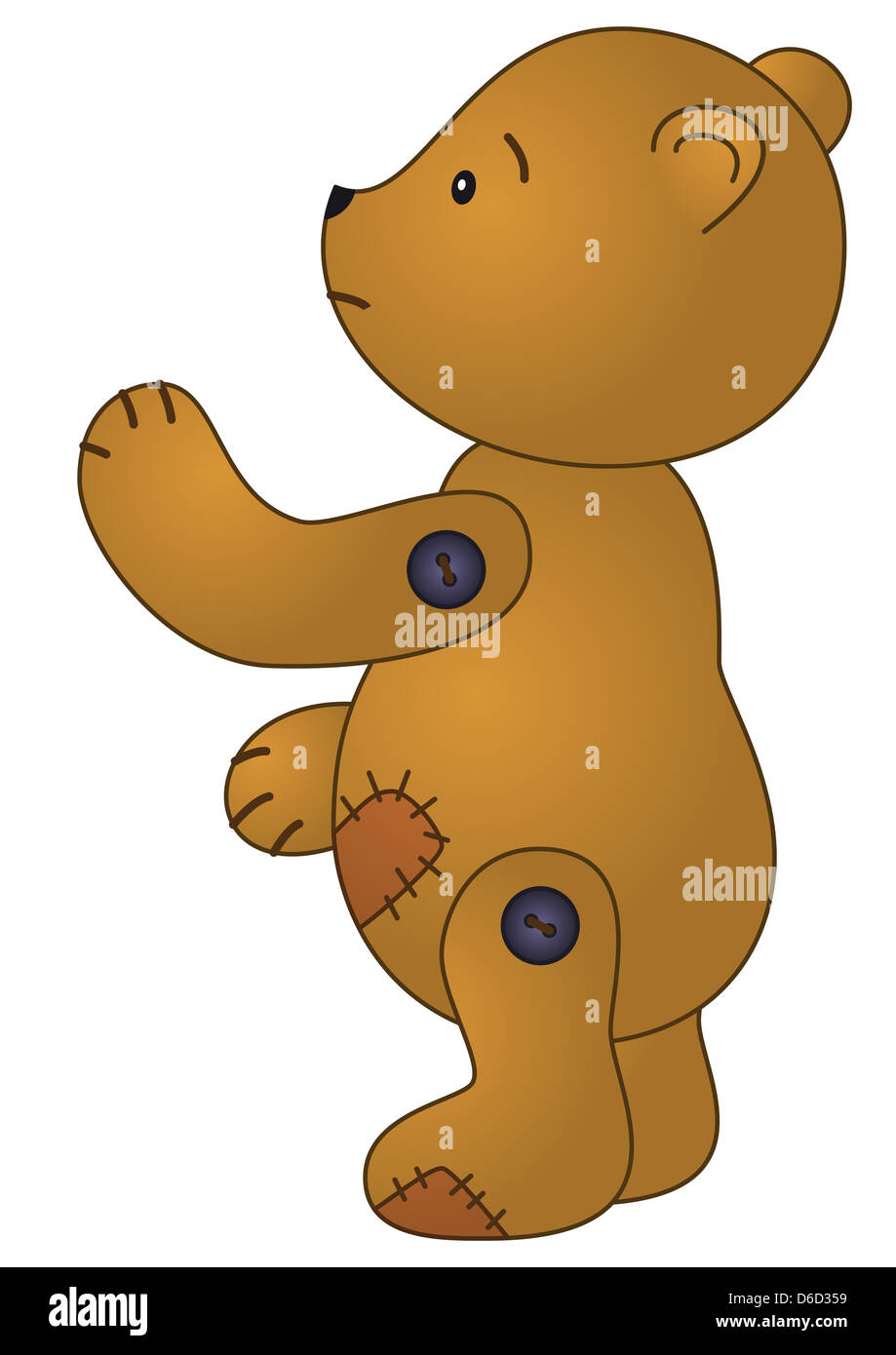 Sad teddy bear - Stock Image