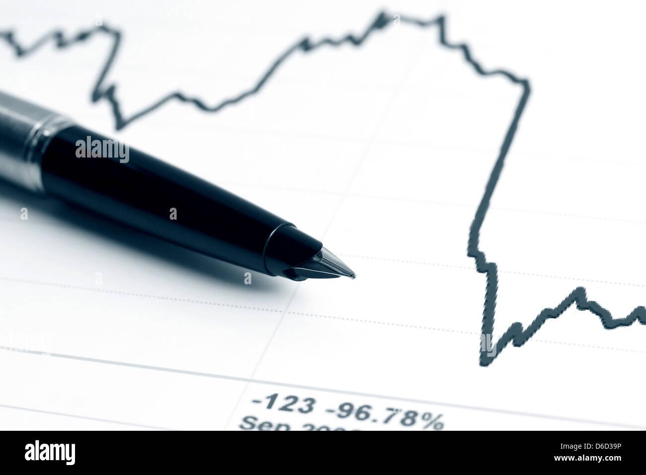 Stock index dynamics - Stock Image