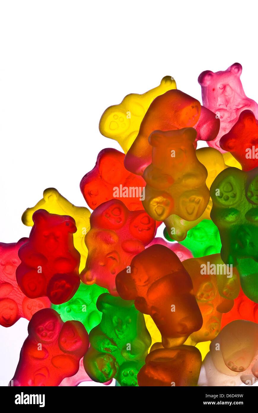 Cannabis Edible Gummy Bears Stock Photo