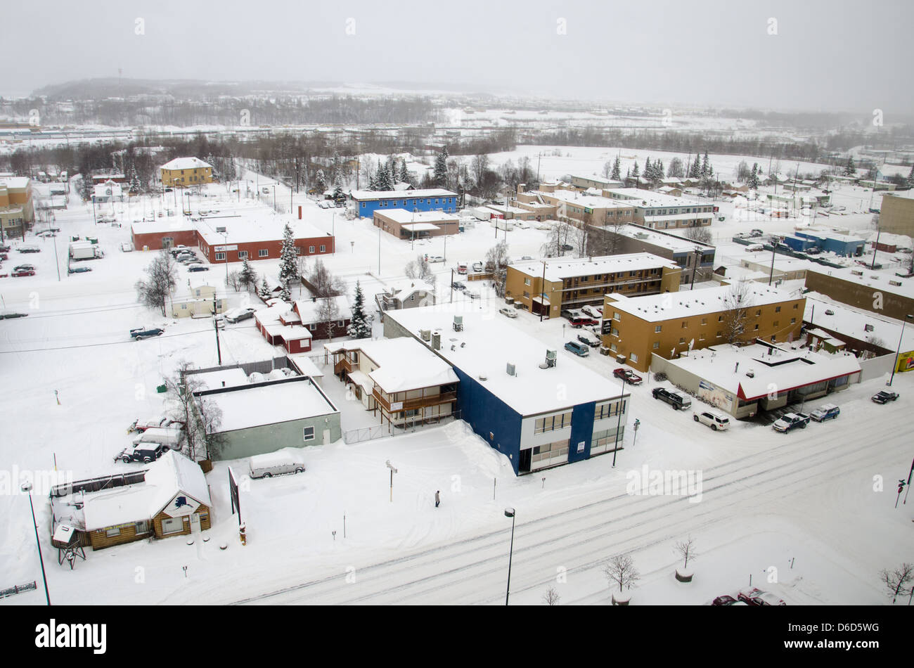 Anchorage in the snow - Stock Image
