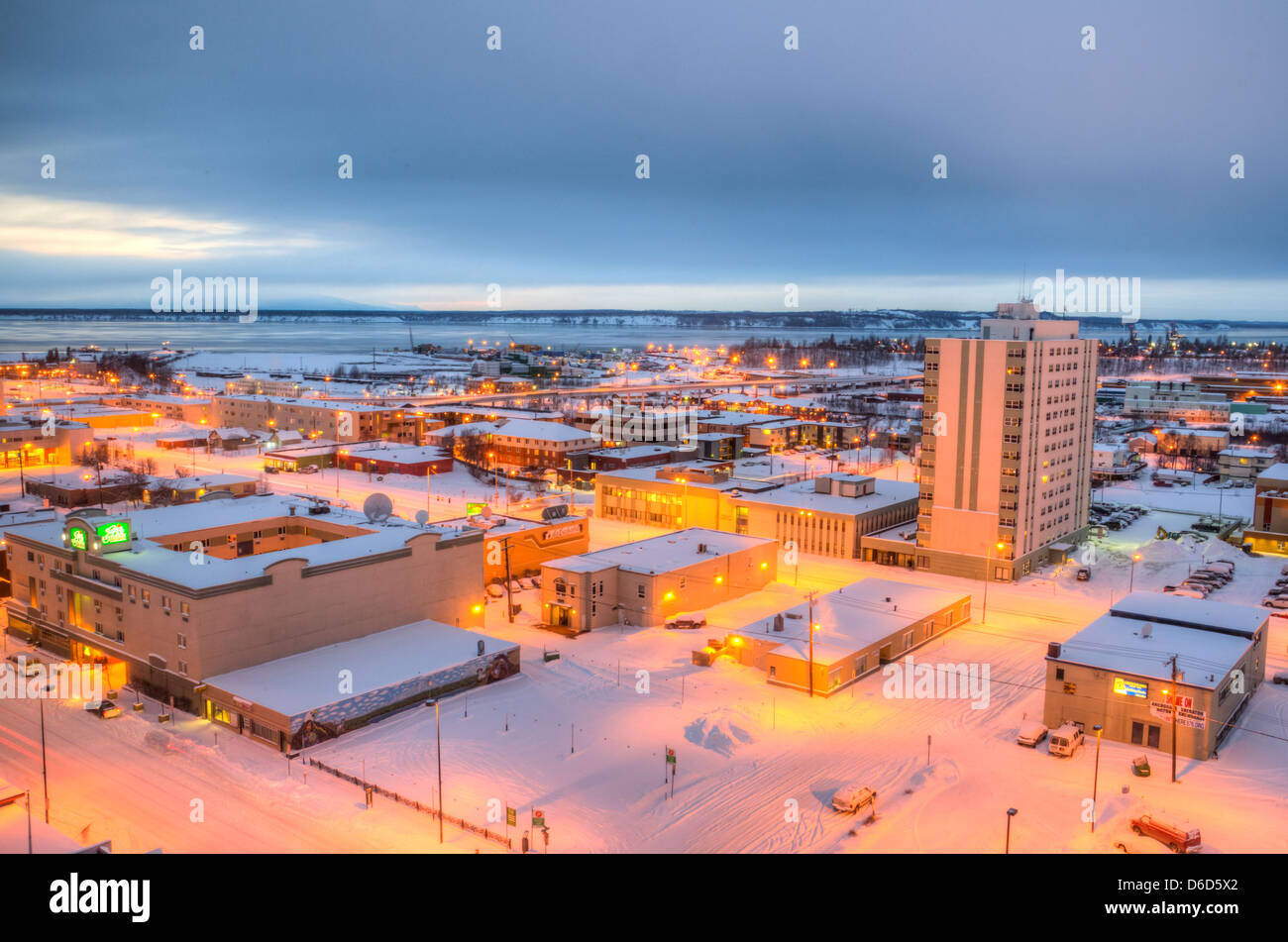 Anchorage at Twilight - Stock Image