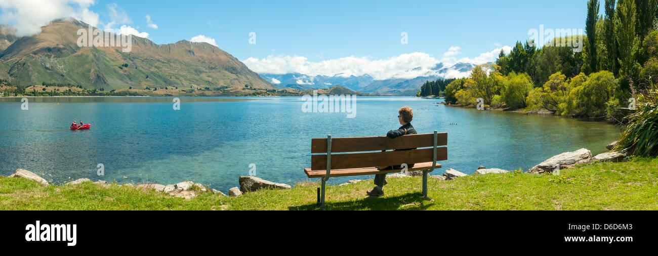 Lake Wanaka, Wanaka, Central Otago, New Zealand - Stock Image