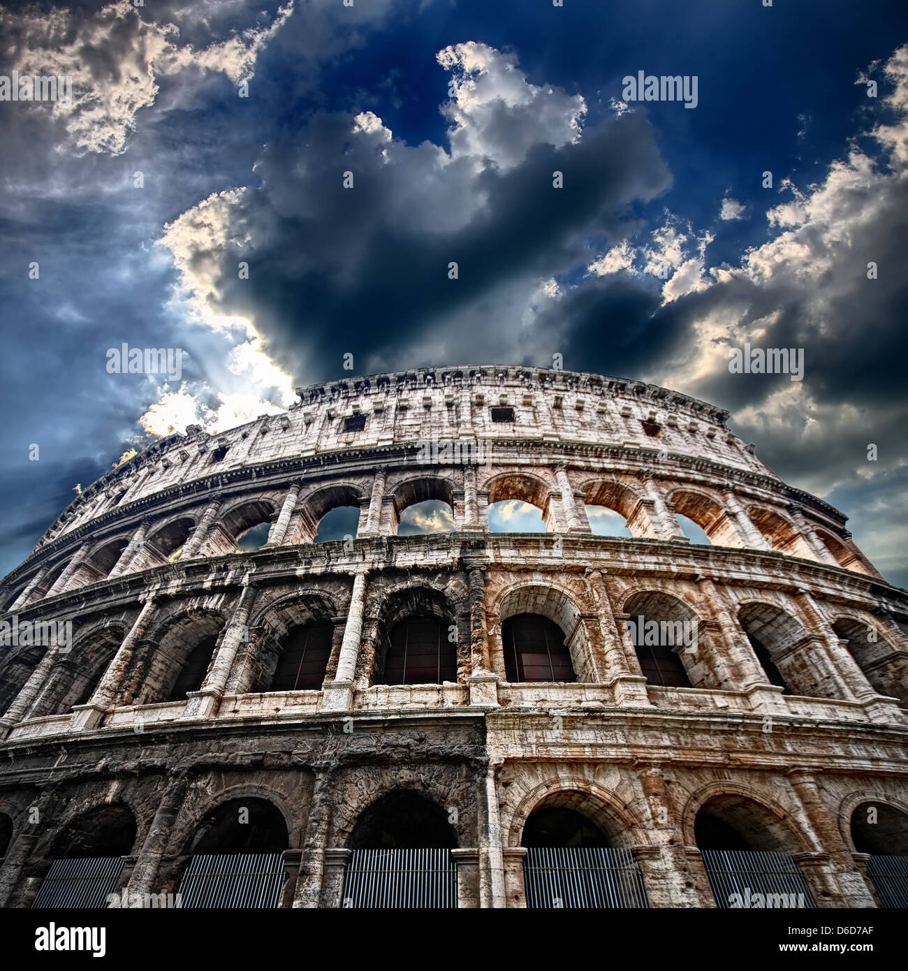 The Colosseum, flaming arena - Stock Image