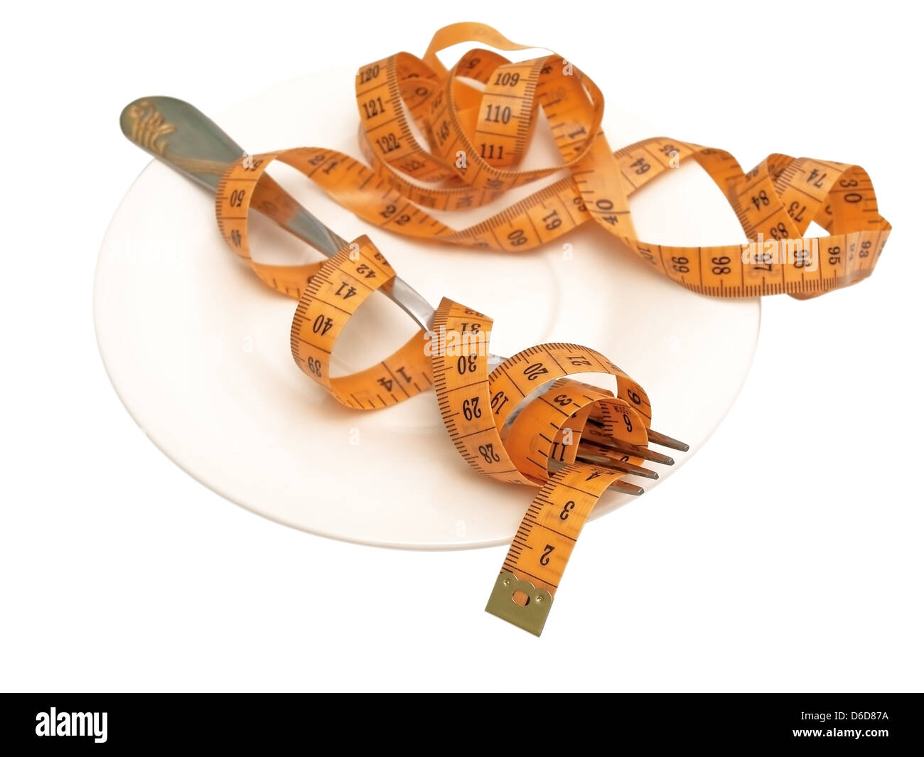 centimeter and fork - Stock Image