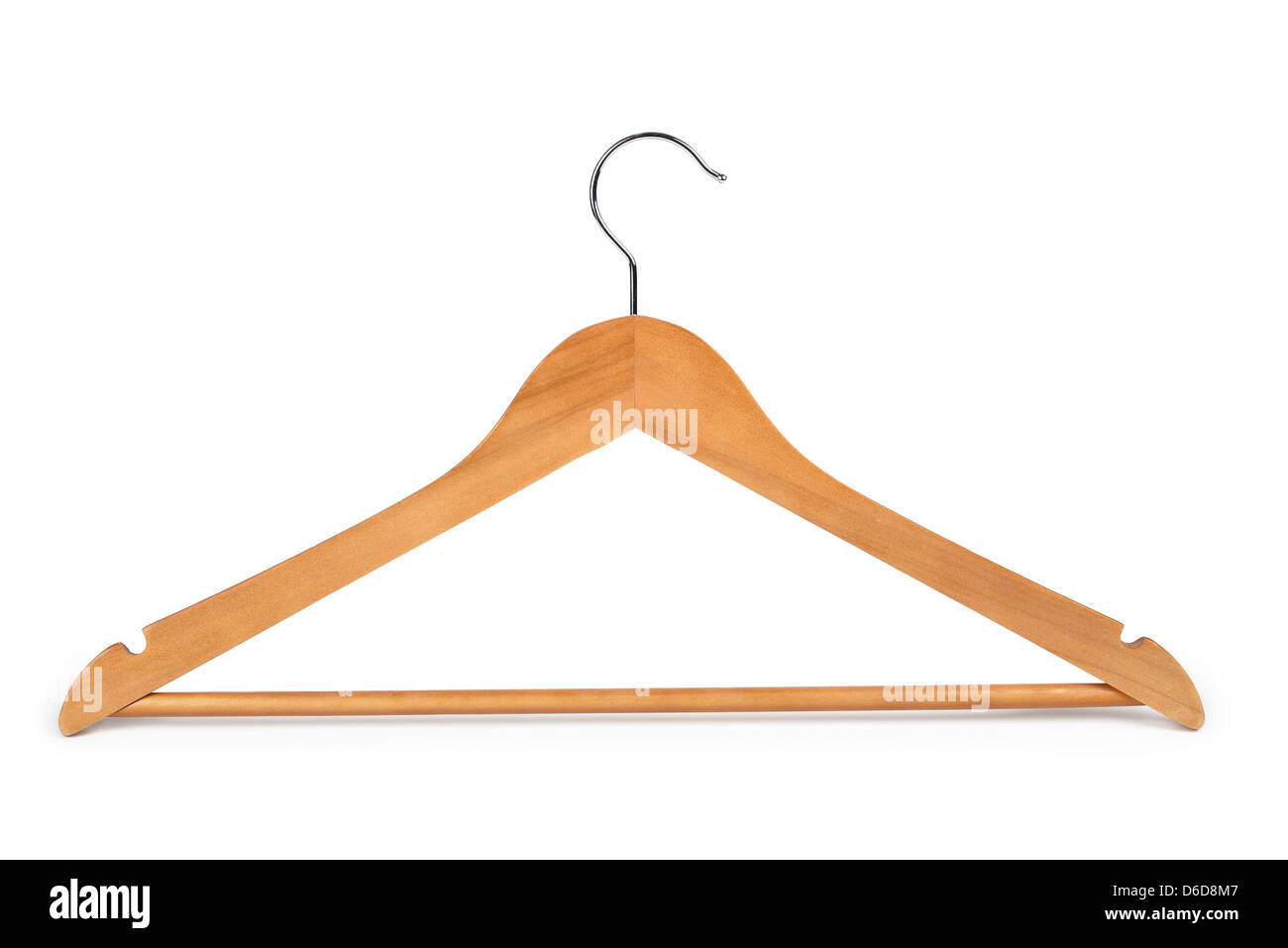 Wooden Clothes Hanger - Stock Image