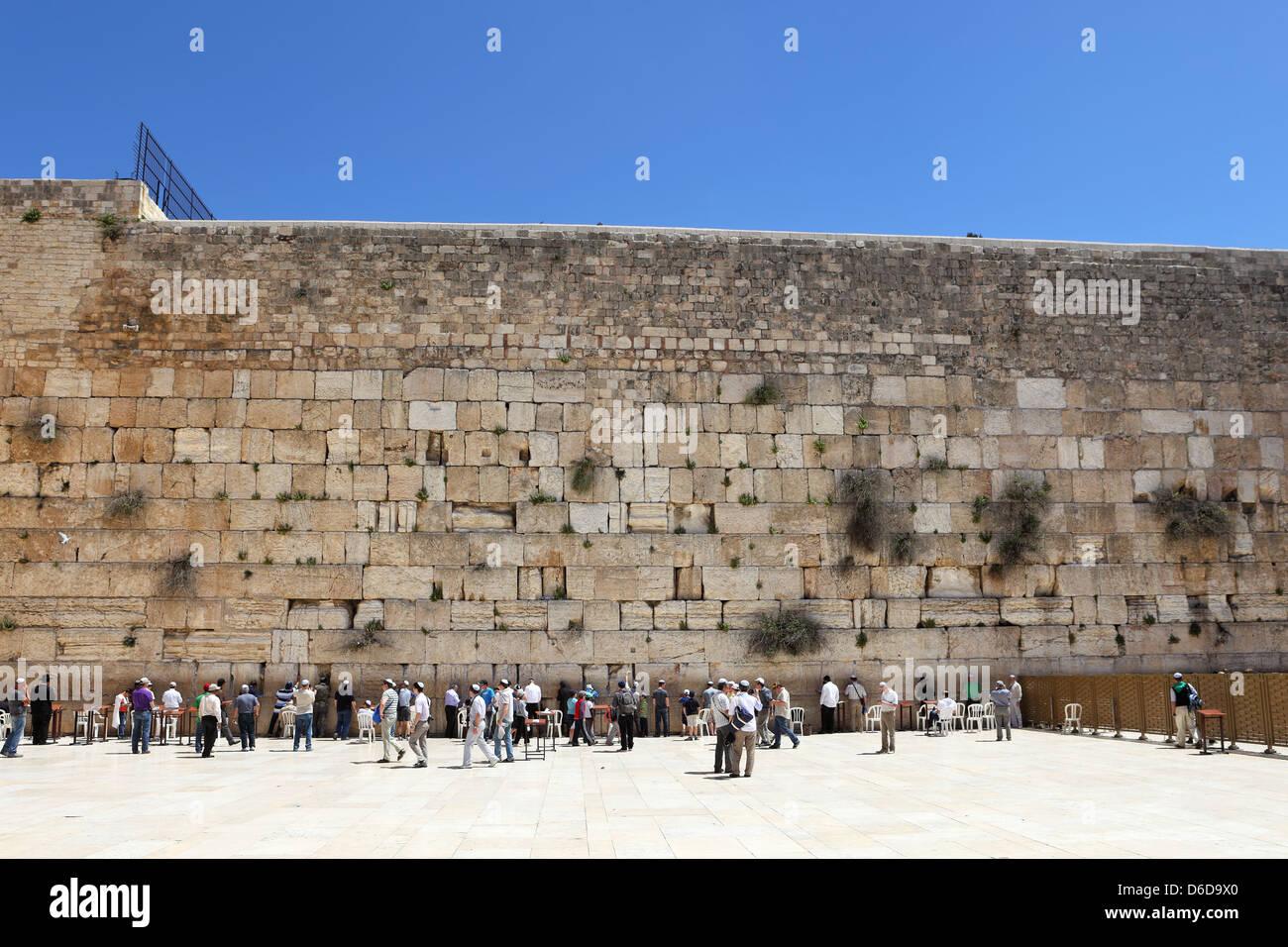 The Jerusalem wailing wall - Stock Image