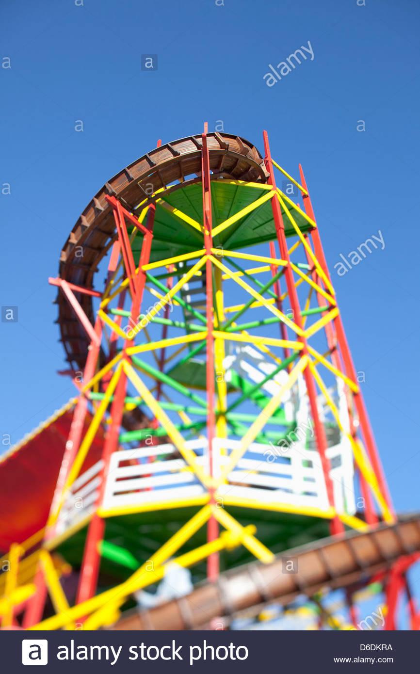 Helter skelter slide Oktoberfest multicolored - Stock Image