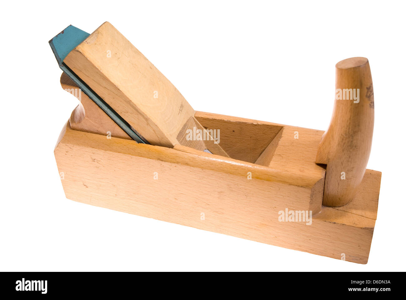 Old Wood Planer Isolated On White Background