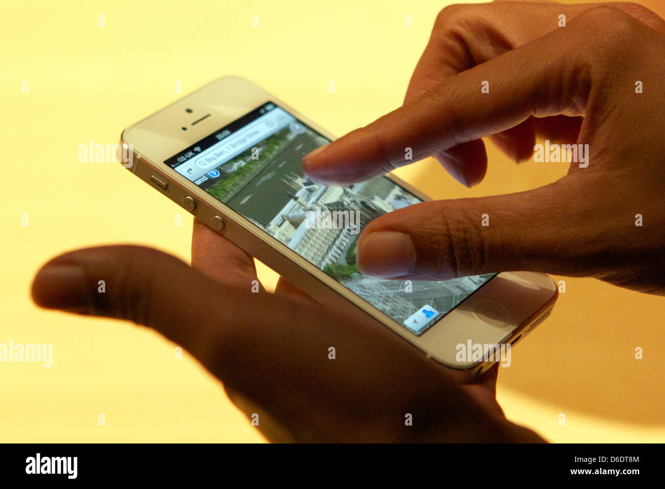 The new iPhone 5, captured in London, UK, 12 September 2012 . In the US, Germany, and seven other countries, the Stock Photo