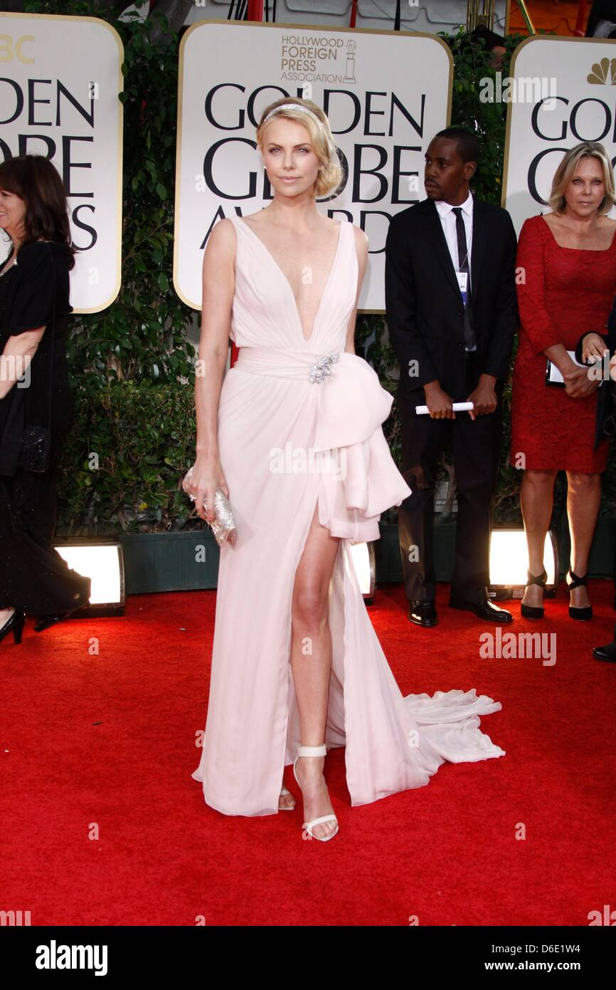 27077f98e10ca South African actress Charlize Theron attend the 69th Annual Golden Globe  Awards presented by the Hollywood Foreign Press Association in Hotel  Beverly ...