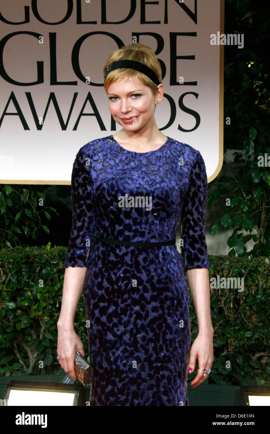 656919da770 US actress Michelle Williams attends the 69th Annual Golden Globe Awards  presented by the Hollywood Foreign Press Association in Hotel Beverly  Hilton in Los ...