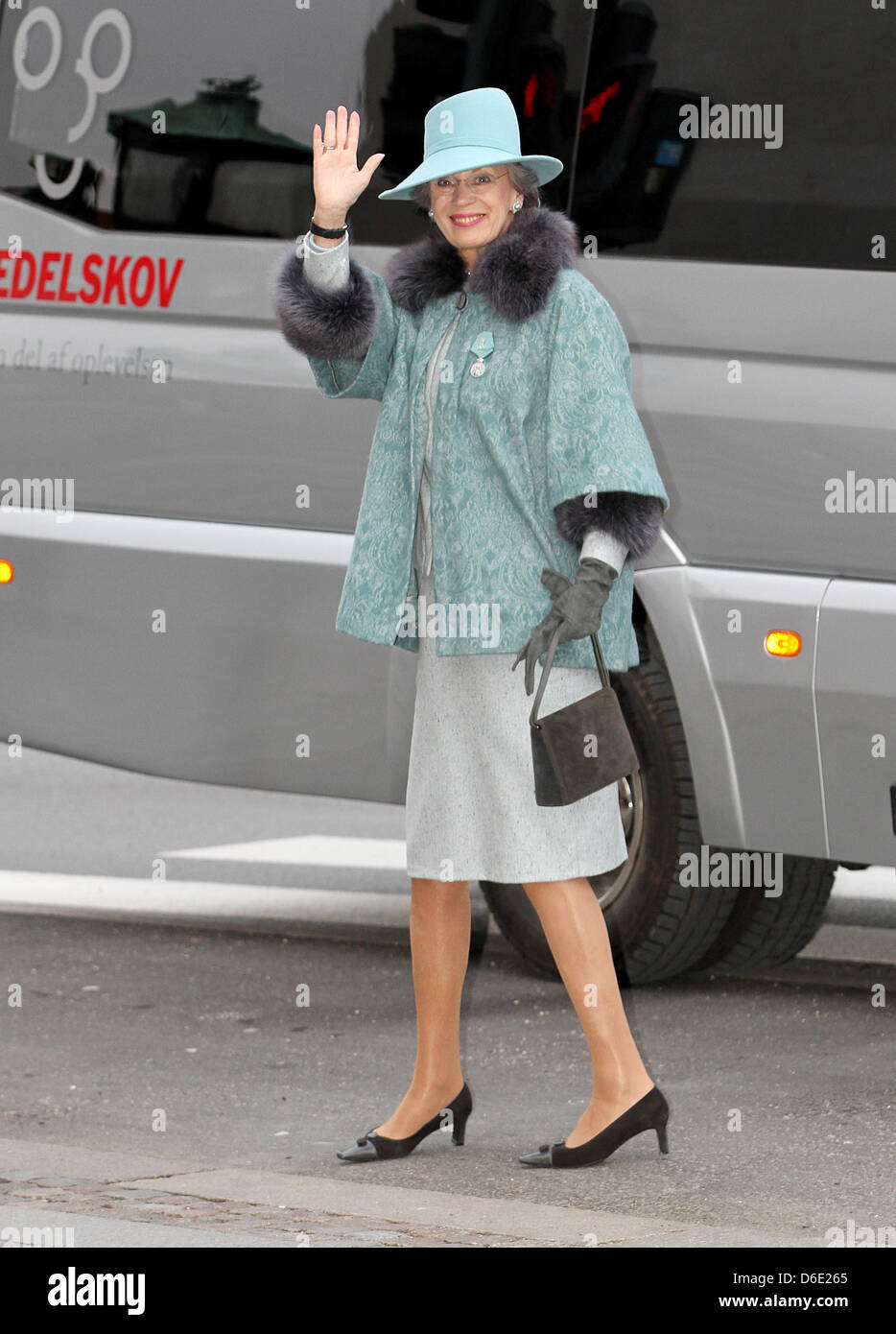 Princess Benedikte of Denmark attends a church ceremony on the occasion of the 40th jubilee of Queen Margrethe at - Stock Image