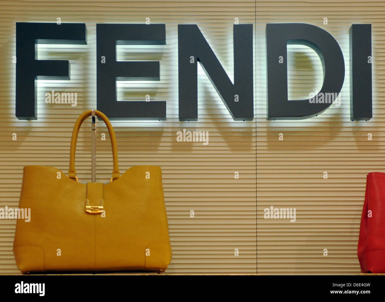 Handbag of luxury brand Fendi, pictured on 18 January 2012 the shopping center Galeries Lafayette in Berlin, Germany. - Stock Image