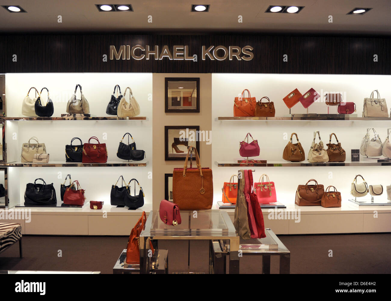 Handbag of luxury brand Michael Kors, pictured on 18 January 2012 the shopping center Galeries Lafayette in Berlin, - Stock Image