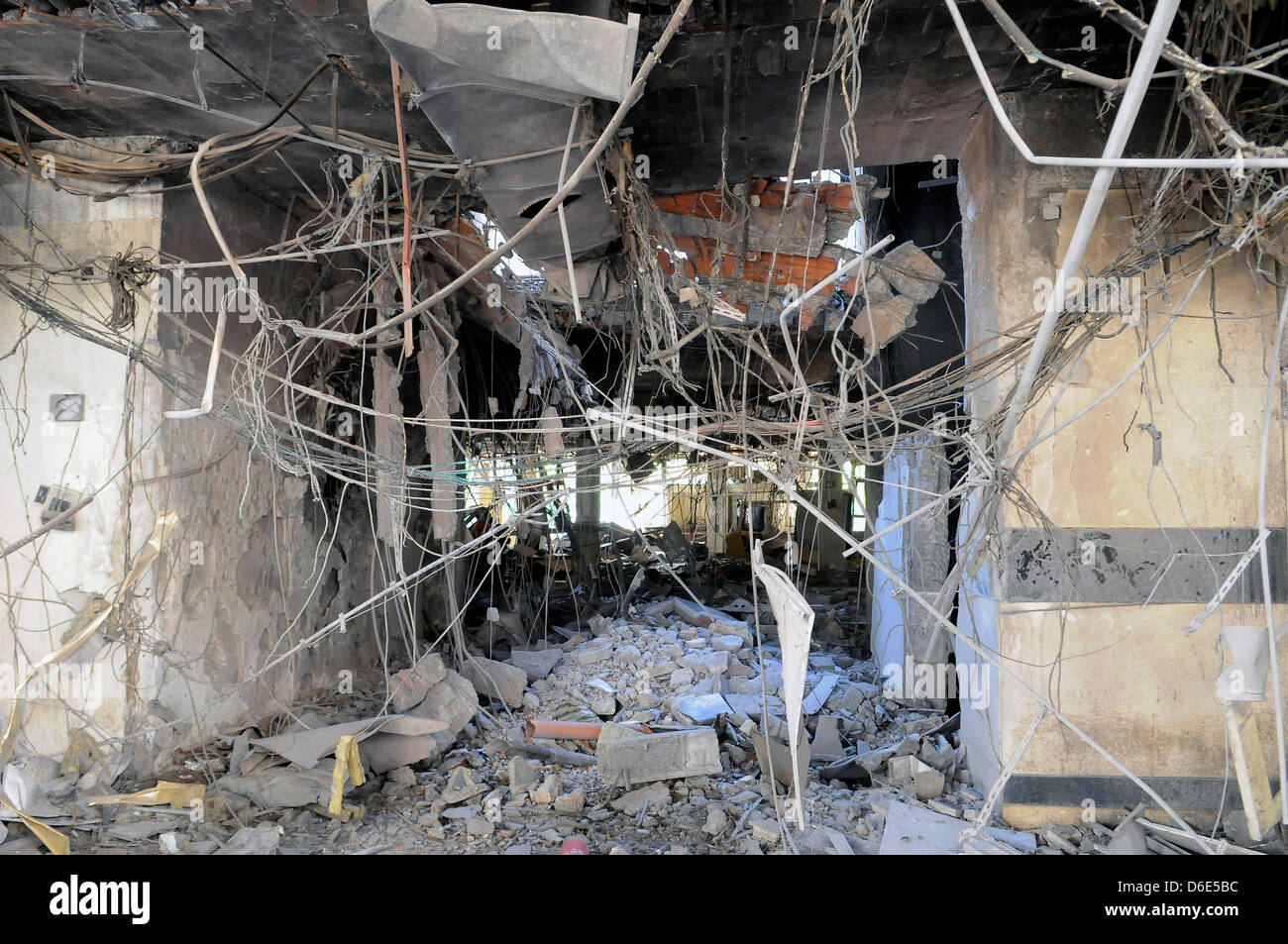 pictures to hang in office. Cables And Wires Hang From The Ceiling Of A Destroyed Office Building In Bab Al-Azizia District Tripoli, Libya, 1 December 2011. Pictures To