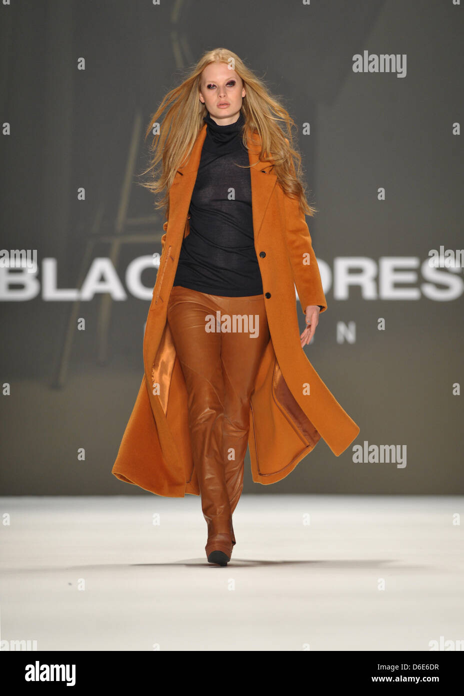 new style d23db 5fd8a A model presents a creation at the Blacky Dress fashion show ...
