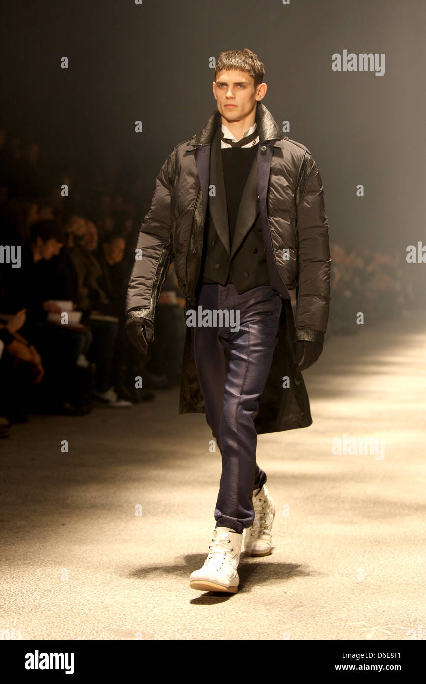 A model wears a creation by Lanvin as part of the menswear fall winter 2012  2013 collection presented during the Paris Men s fashion week db92fbfbbc5