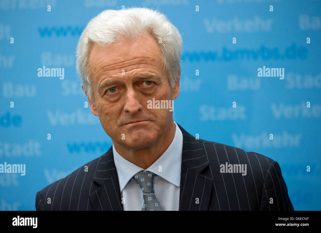 German Minister of Transport, Peter Ramsauer (CSU), gives a press conference at the German Ministry of Transport - Stock Image