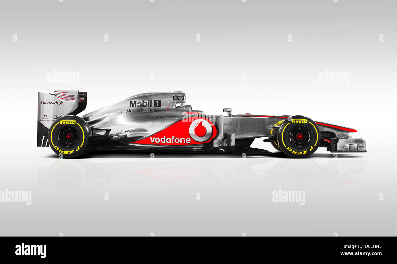 A handout picture of McLaren-Mercedes dated 01 February 2012 shows the new Formula One race car of McLaren-Mercedes - Stock Image