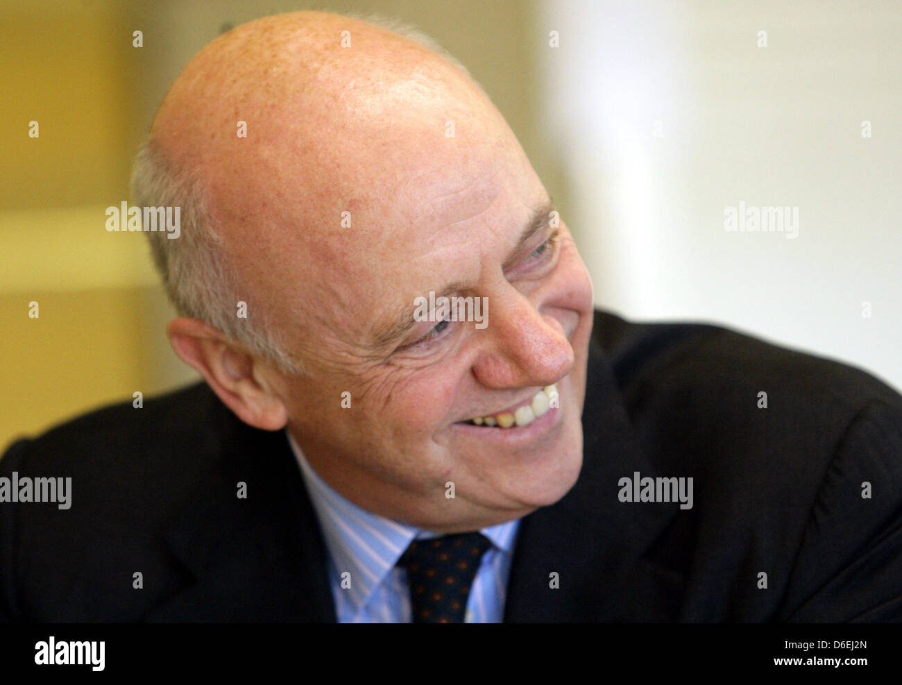 Insolvency administrator of the Sietas shipyard Berthold Brinkmann speaks during a press conference of the Sietas - Stock Image
