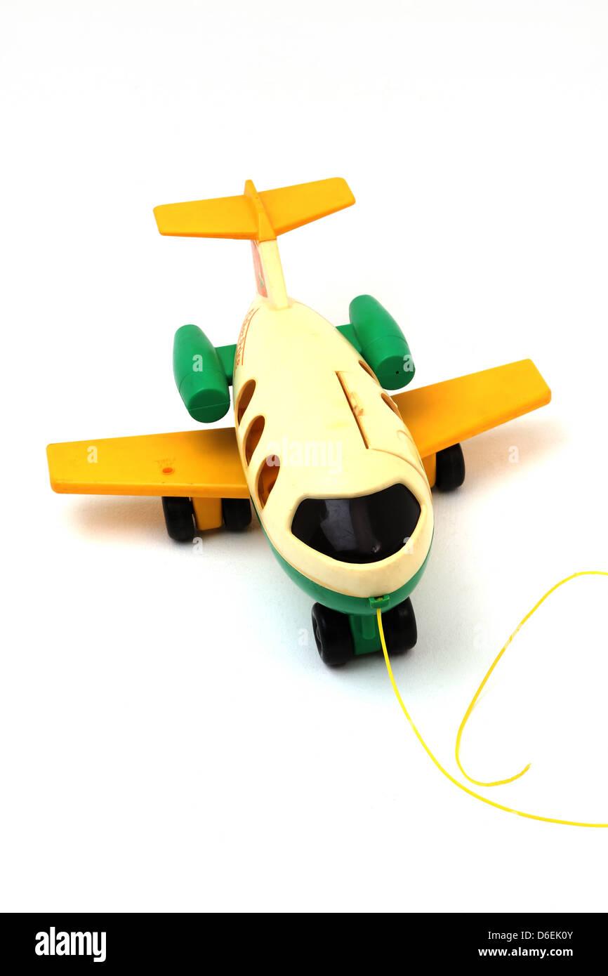 Fisher Price Pull Along Aeroplane Toy - Stock Image