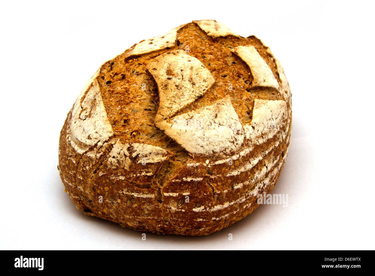 Rustic Multigrain Loaf Stock Photo