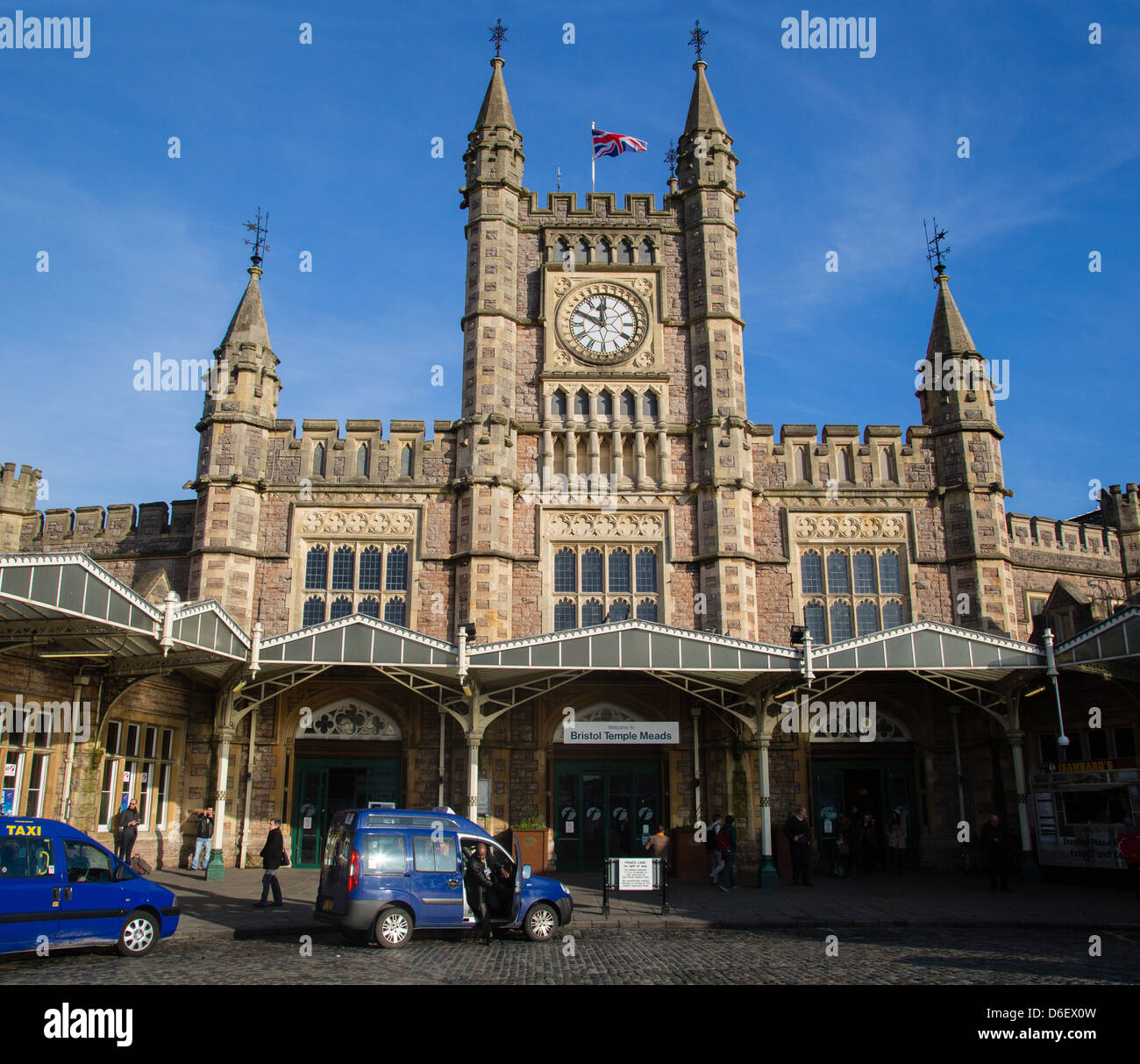 Temple Meads railway station serves the City of Bristol UK Stock Photo