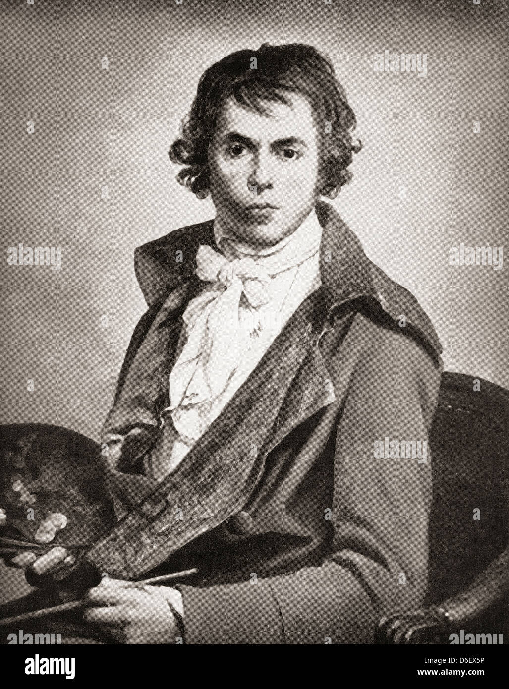 Jacques-Louis David, 1748 –1825. Influential French artist during the French Revolution. - Stock Image
