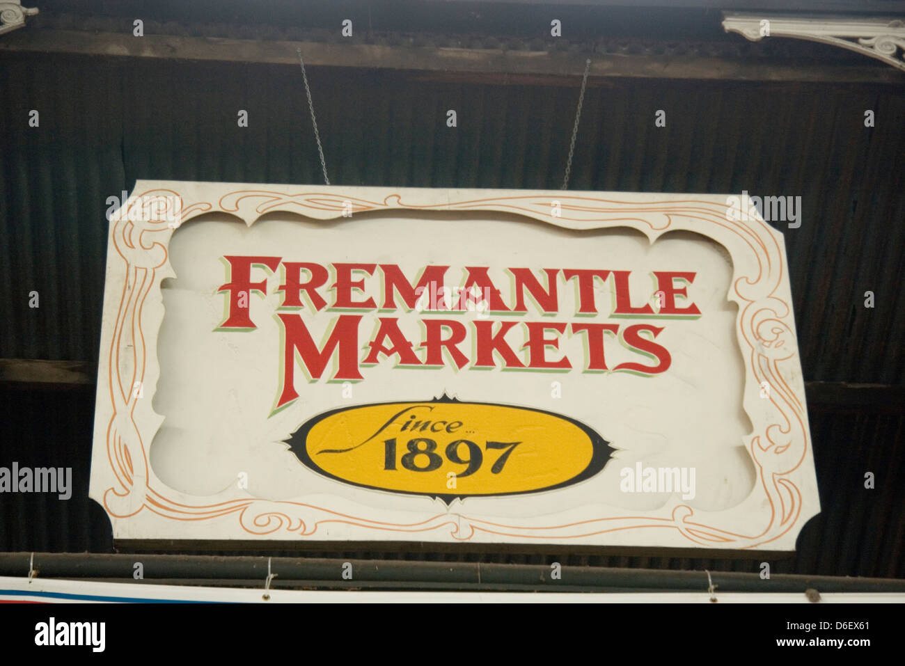 Fremantle Markets in Fremantle, Western Australia - Stock Image
