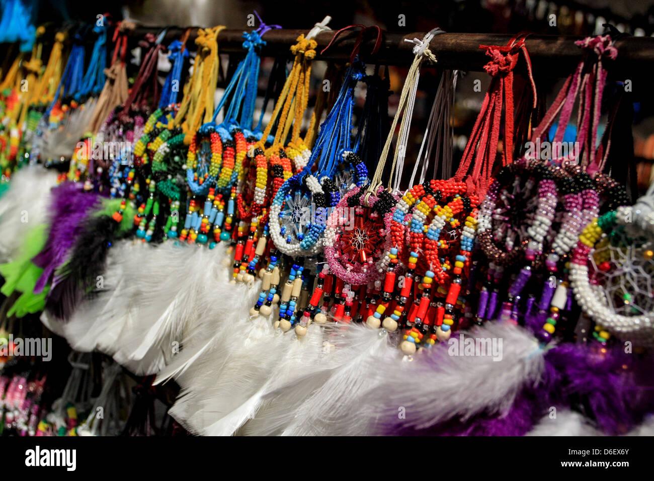 dream catchers in Otavalo, Ecuador - Stock Image