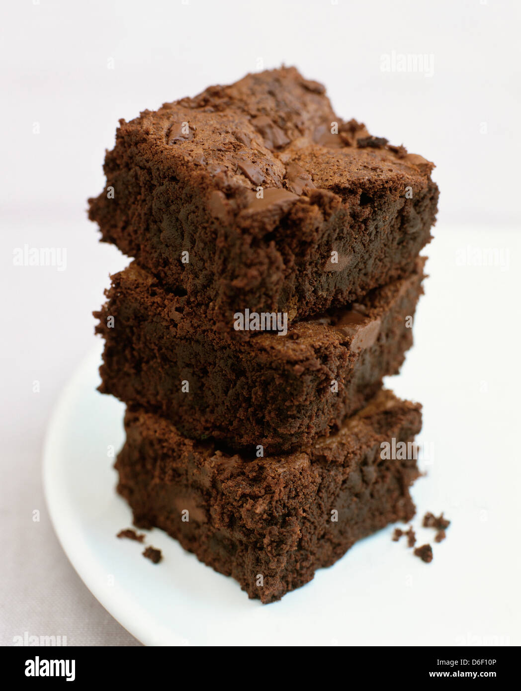 Chocolate Chip Brownies - Stock Image