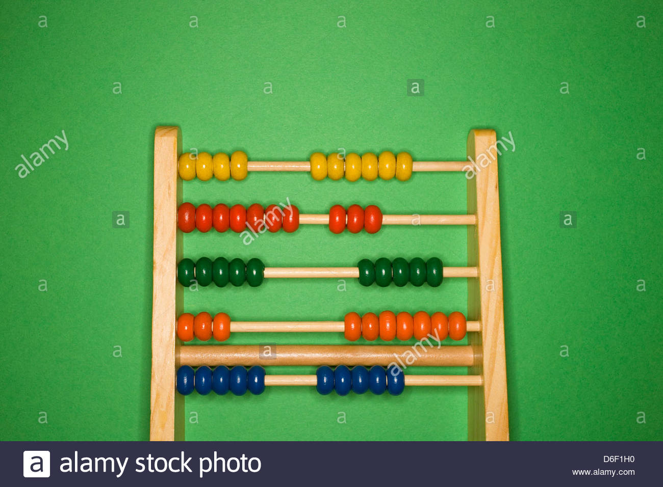 Abacus Childs multicolored counting calculation - Stock Image