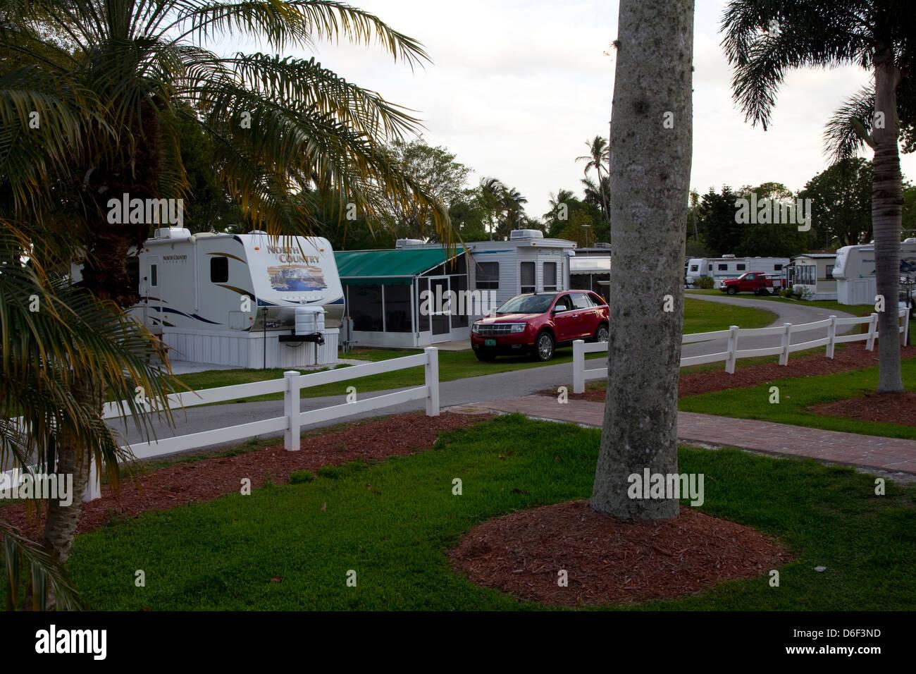 Crooked Hook RV Resort, near Lake Okeechobee, FL - Stock Image