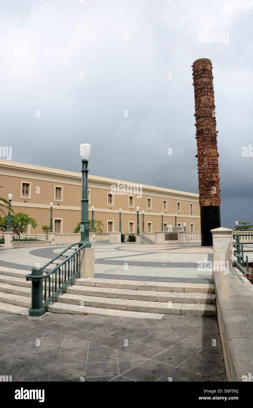 Plaza del Totem, Old San Juan, Puerto Rico - Stock Image