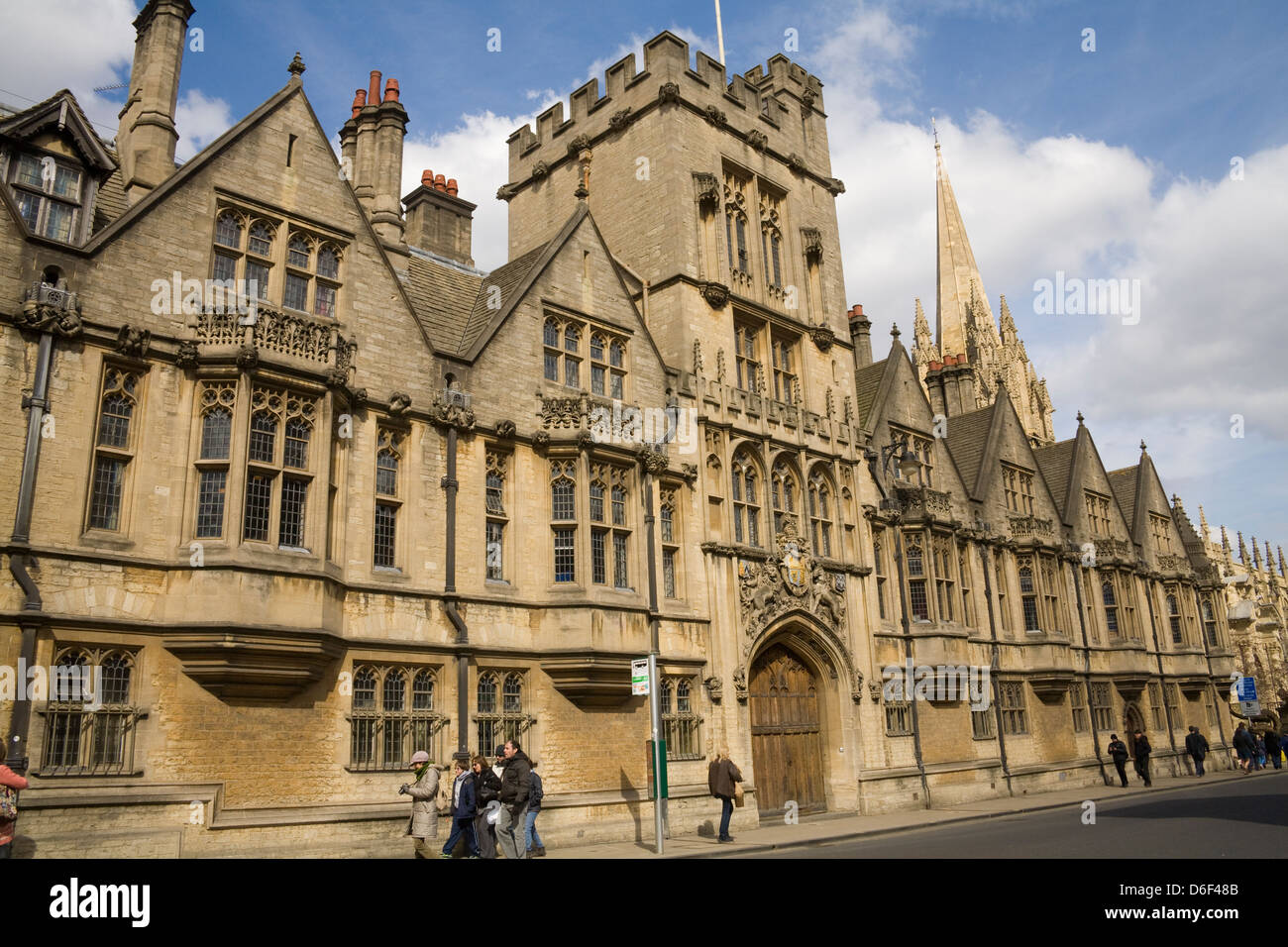 Oxford University Oxfordshire Front facade of Brasenose College in High Street founded in 1509 - Stock Image