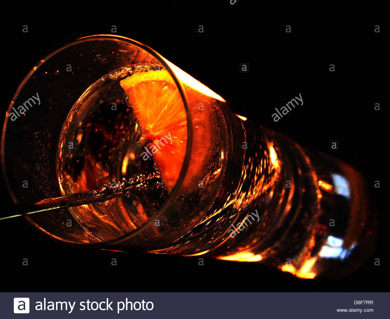 Tall cocktail - Stock Image