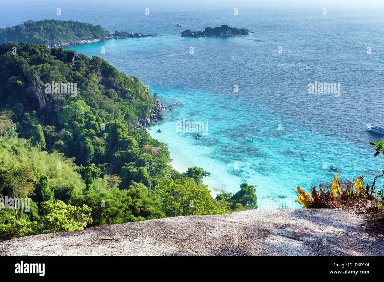 Mu Ko Similan island landscape, Thailand - Stock Image