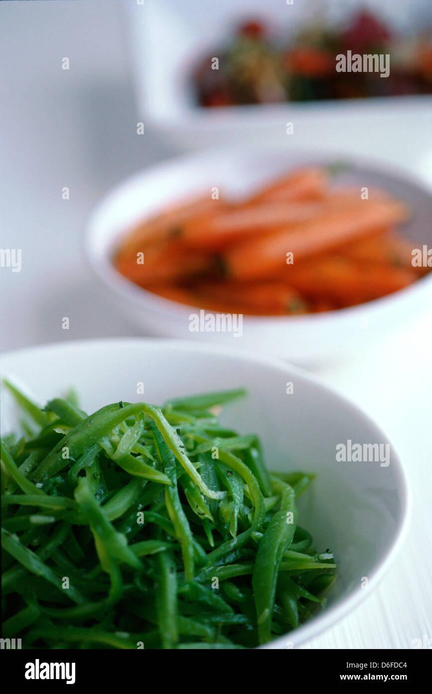 Vegetable Accompaniments - Stock Image