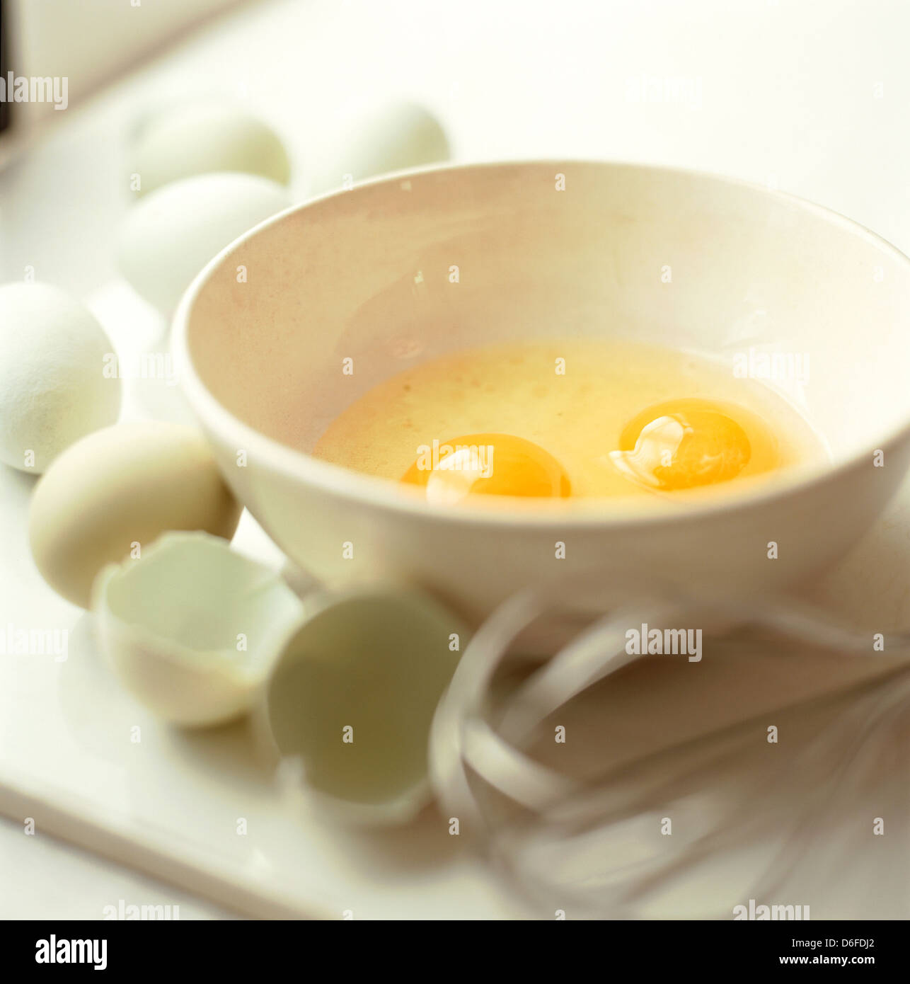 Eggs in a Bowl - Stock Image