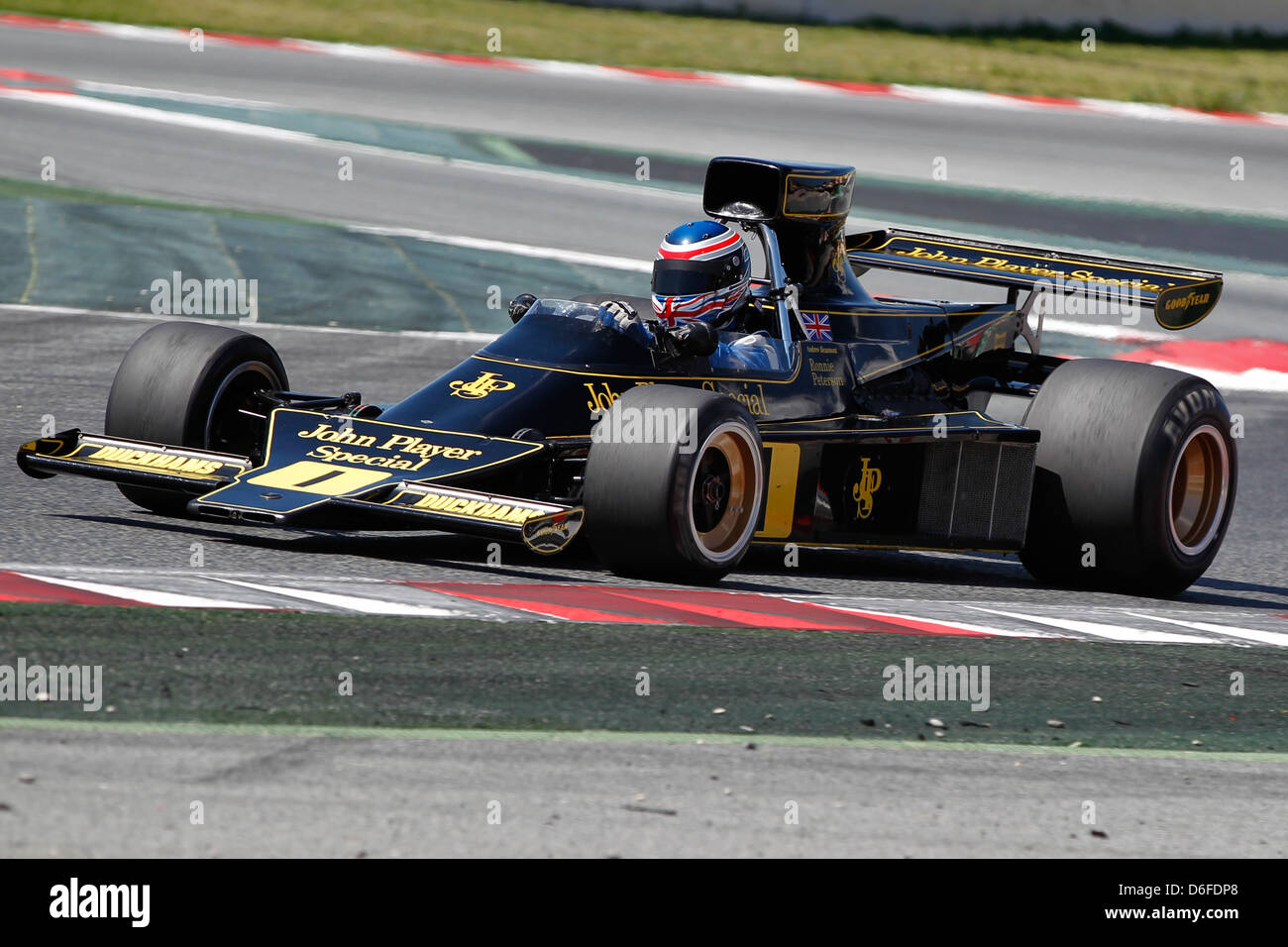 FIA Masters Historic Formula One race at Montmelo 12th April 2013 - Andrew Beaumont in 1974 Lotus 76/1 - Stock Image