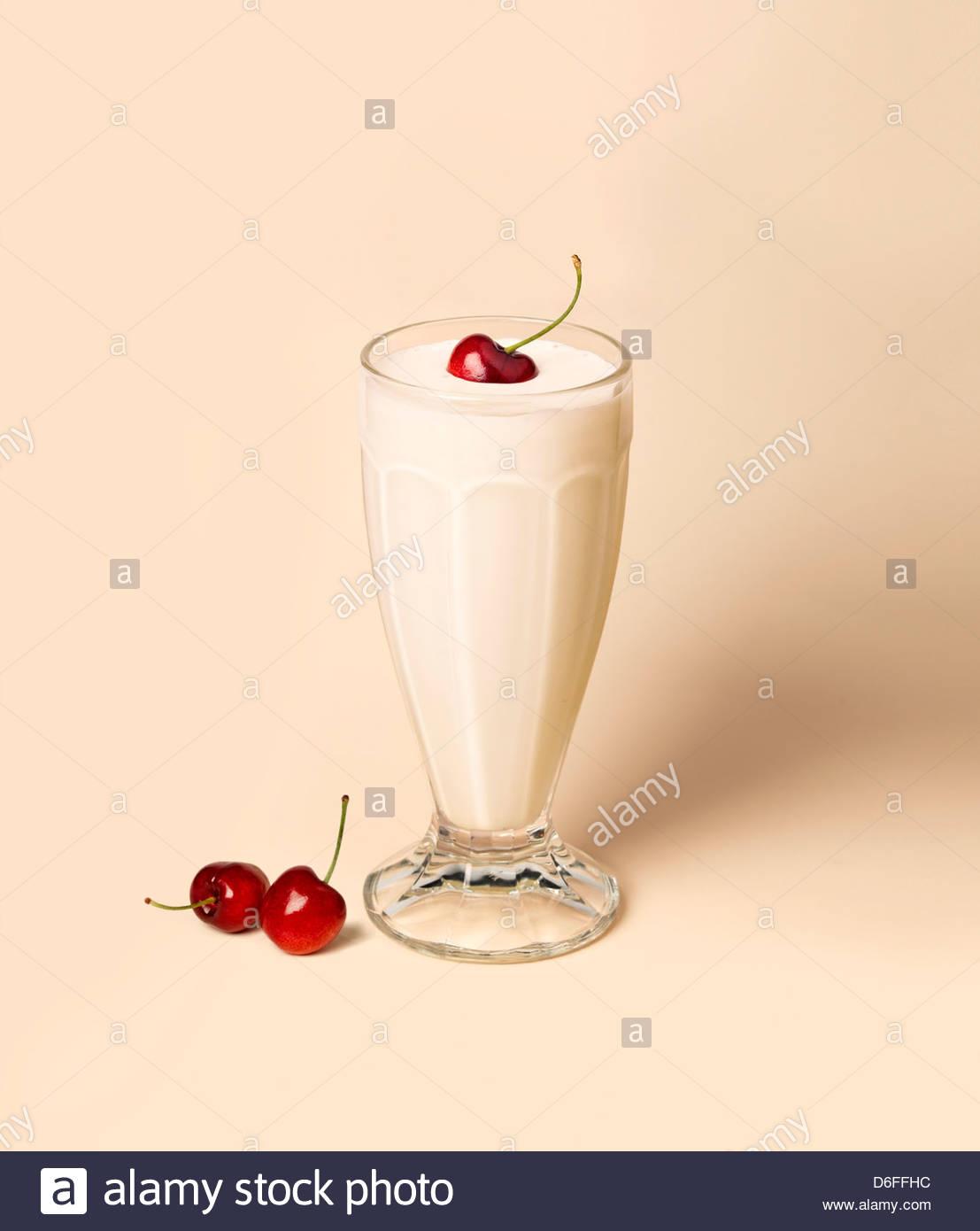 Vanilla Milkshake - Stock Image