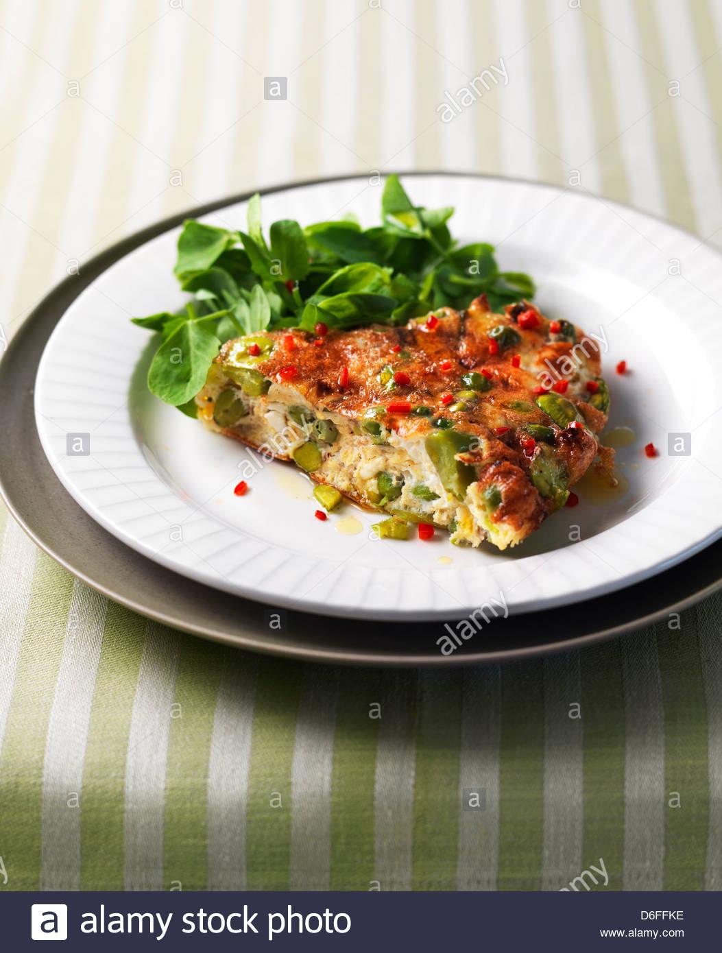 Vegetable Frittata - Stock Image
