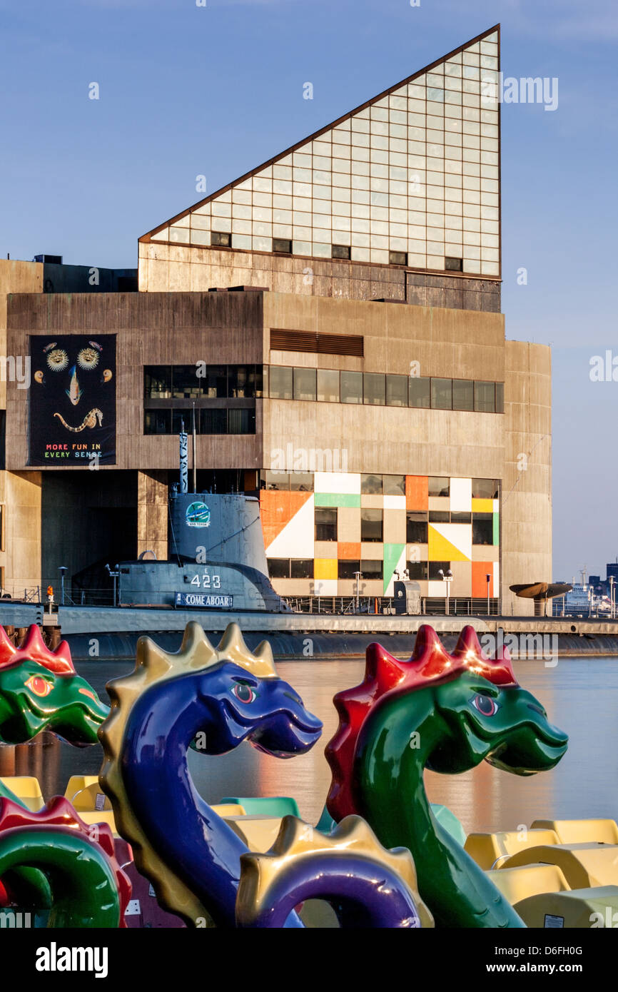 National Aquarium at Inner Harbor of Baltimore, Maryland Stock Photo