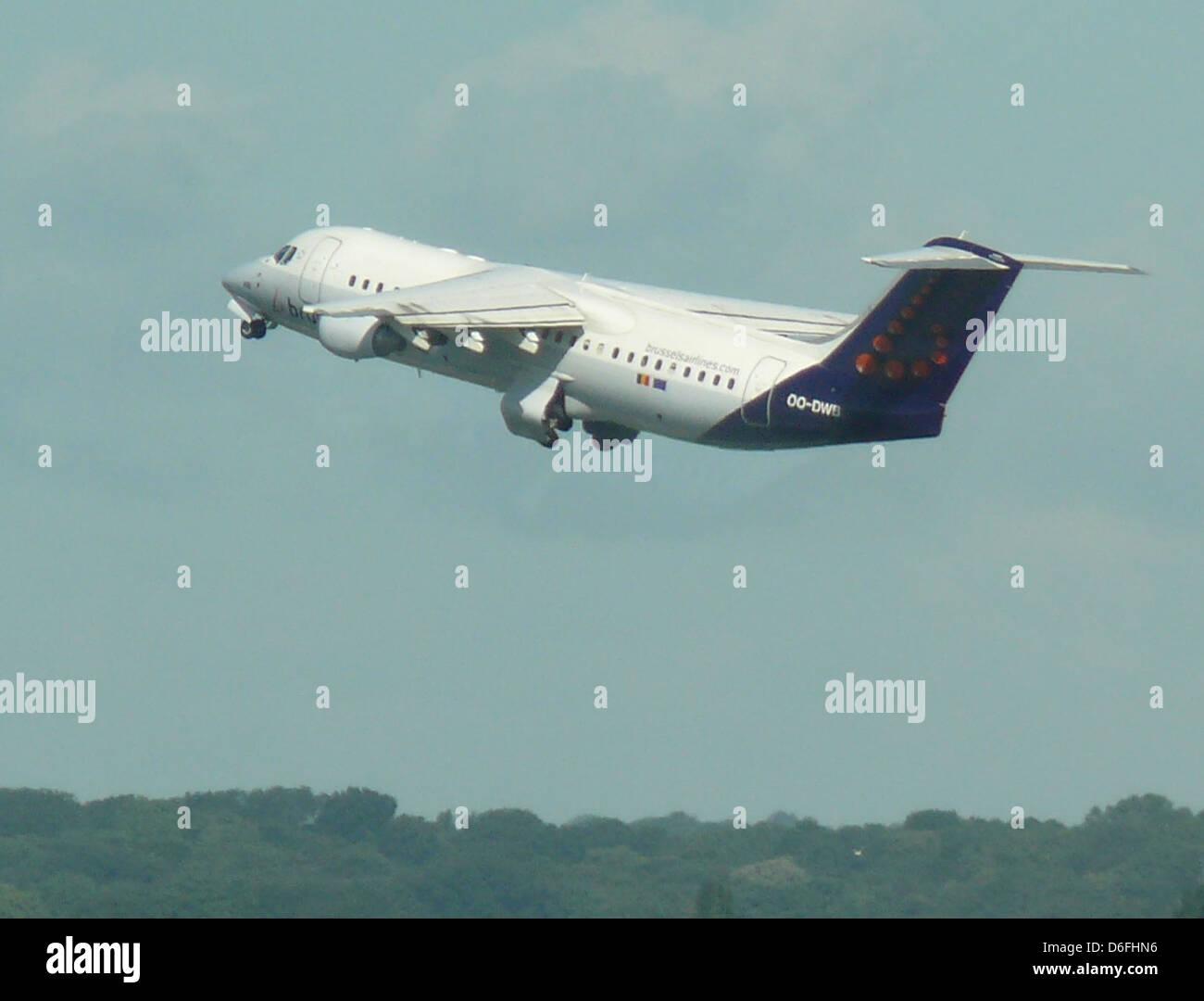 Zaventem Brussels Airlines Avro 146 rj100. - Stock Image